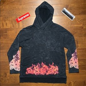 rare vintage graphic fire smokey oversized hoodie
